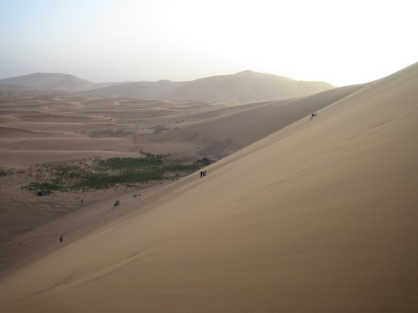 The Erg Chebbi dunes in Morocco