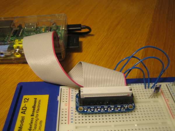 A HYT-271 humidity sensor connected to a Raspberry Pi